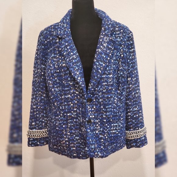 Joan Rivers Blazer with Pearl Accent Size 18W